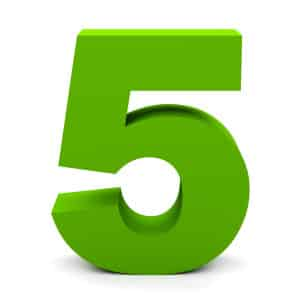 Green-Number-5