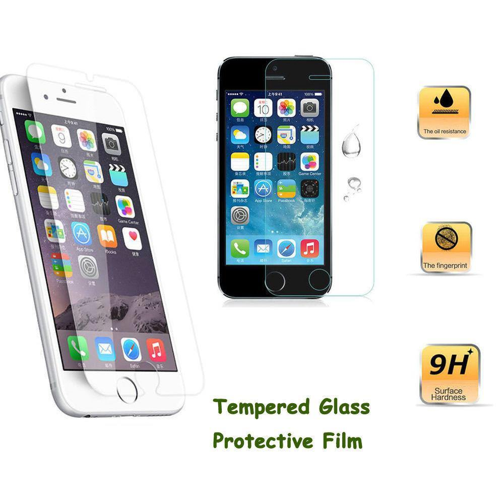 Screen Protector Tempered Glass for iPhone 5s 6s 7 Plus 9H 2.5D Anti Fingerprints