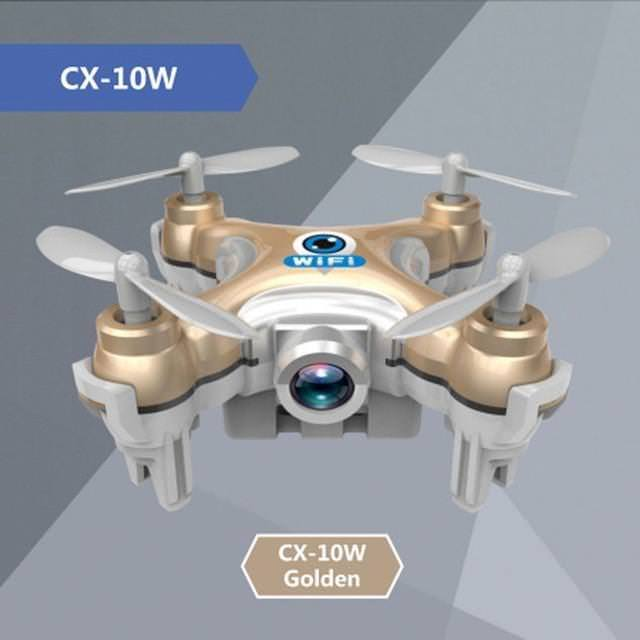 Drone with Camera Cheerson CX-10W Mini 6-Axis Gyro RC Quadcopter Headless Mode Remote Control FPV Flying Camera wifi Toy Copter