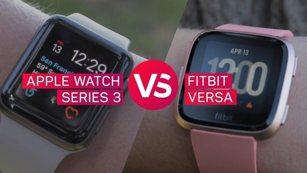 Apple iWatch vs Fitbit Versa