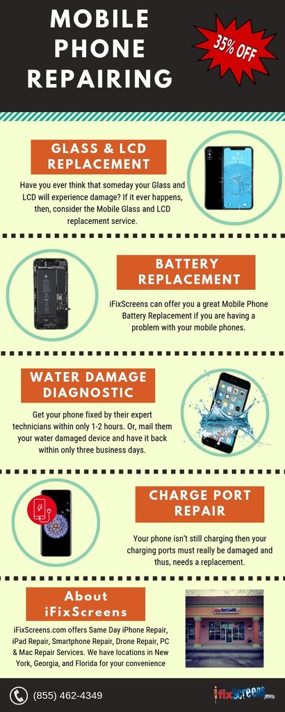Mobile Phone Repairing Infographic