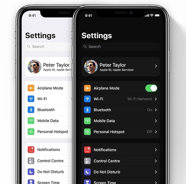 Dark Mode On iOS 13