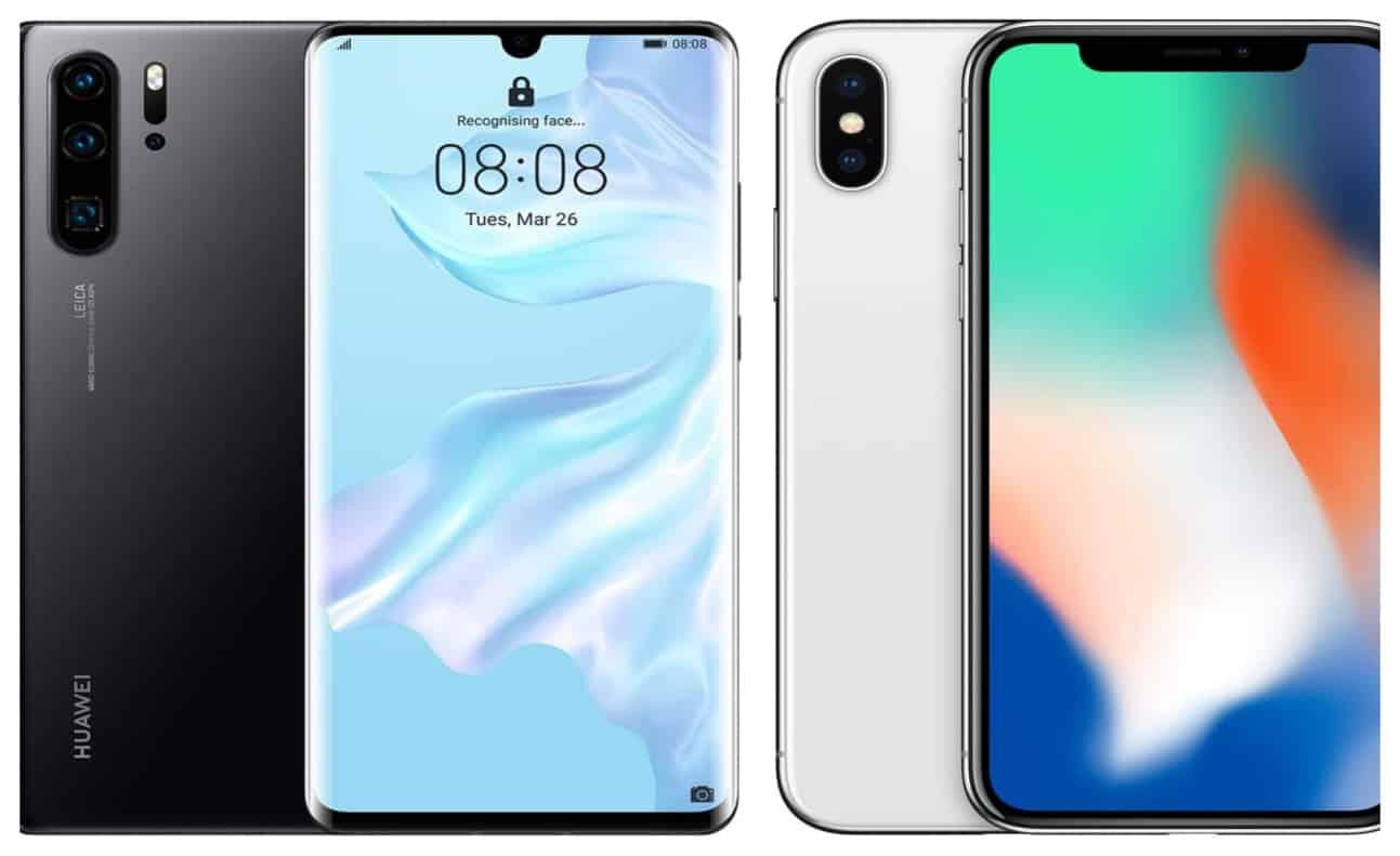 Huawei P30 Pro VS iPhone X