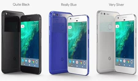 Pixel and Pixel XL Colors and design