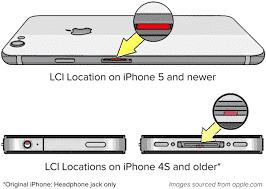 LCI location in iPhone