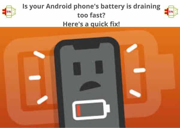 phone's battery draining fast