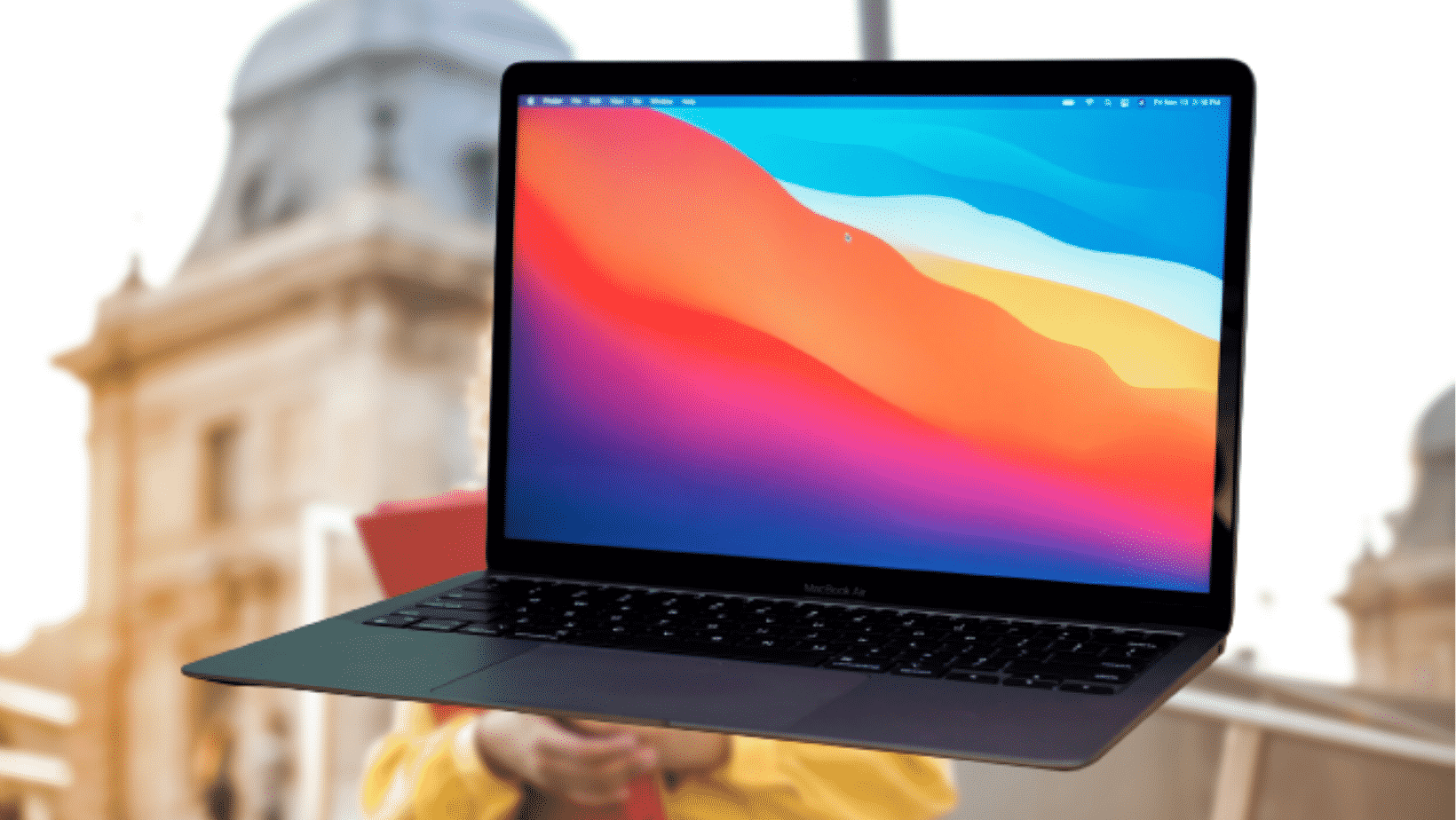 student's laptop